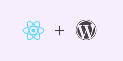 React and WordPress banner