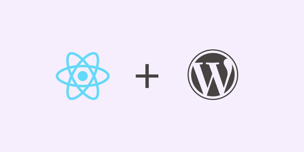 React and WordPress banner