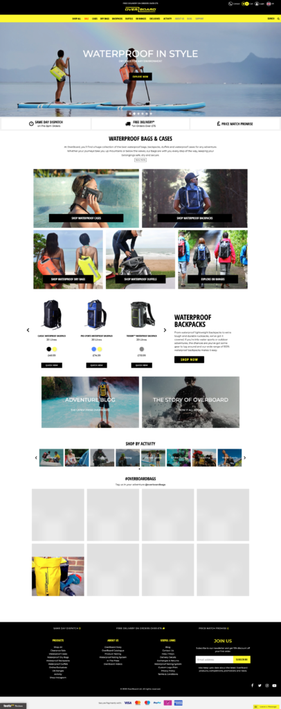 Overboard home page